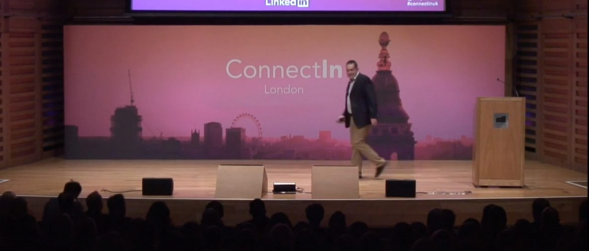Still image from LinkedIn event video production